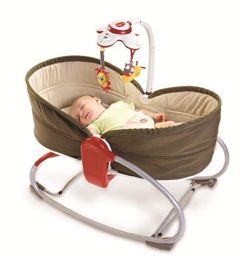 Tiny-Love-Transat-Balancelle-Rocker-Napper-3-en-1-Marron-0