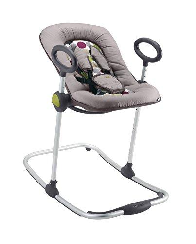 BABA-Transat-Up-Down-I-Transat-Rglable-par-simple-pression-4-hauteurs-3-Inclinaisons-Unisexe-pour-Bb-et-Enfants-Rducteur-de-naissance-Ultra-confortable-NoirGris-0