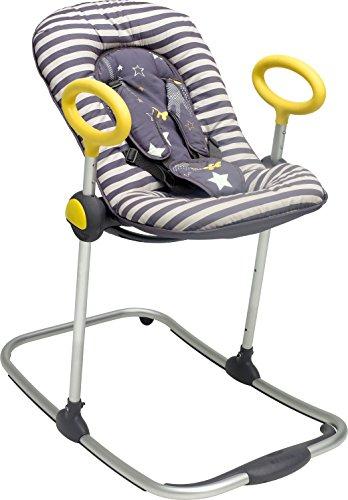 BABA-Transat-Up-Down-I-Transat-Rglable-par-simple-pression-4-hauteurs-3-Inclinaisons-Unisexe-pour-Bb-et-Enfants-Rducteur-de-naissance-Ultra-confortable-Gris-rock-0